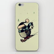 Skier iPhone & iPod Skin