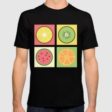 Fruit Pop SMALL Mens Fitted Tee Black