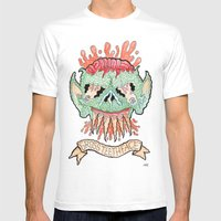 GROSS TEETHFACE Mens Fitted Tee White SMALL