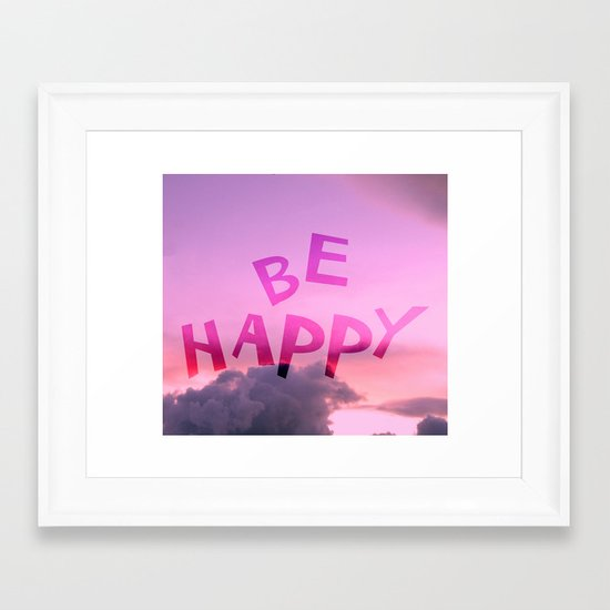 Be happy! Framed Art Print