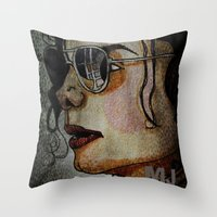 MJ In Profile Throw Pillow