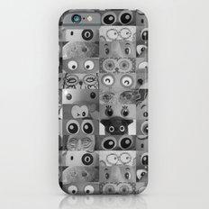 Eyes Eyes Eyes BW iPhone 6s Slim Case