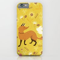iPhone & iPod Case featuring Cute as a Fox by Poppy & Red