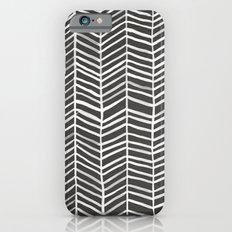Herringbone – Black & White Slim Case iPhone 6s