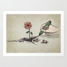 Nature Pen Art Print