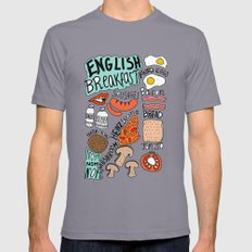 English Breakfast Mens Fitted Tee Slate SMALL