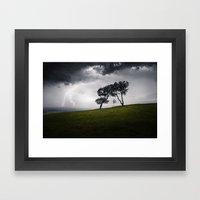 A Storm On Heathland Framed Art Print