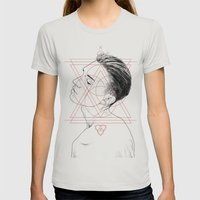 Face Facts I Womens Fitted Tee Silver SMALL