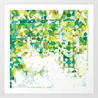Zellige | 001 Green Art Print