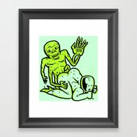 Hothouse Of Horror Framed Art Print