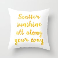 scatter sunshine Throw Pillow
