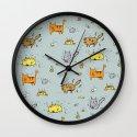 Dirty Animals Wall Clock