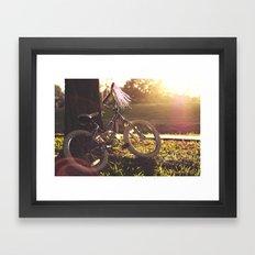 Her Bike  Framed Art Print