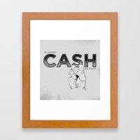 In Johnny Cash We Trust. Framed Art Print