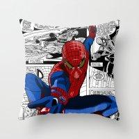 Spider-Man Comic Throw Pillow