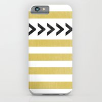 iPhone & iPod Case featuring ARROW STRIPE {MUSTARD} by natalie sales