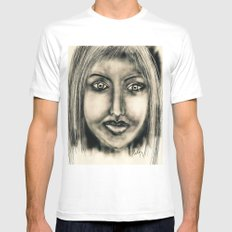 Girl  White SMALL Mens Fitted Tee