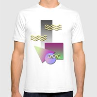 Kool Shaps Mens Fitted Tee White SMALL