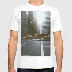 Streets of NYC Mens Fitted Tee White SMALL