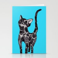 Giraffe Cat 2. Stationery Cards