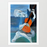 Picasso's Blue Man  Art Print