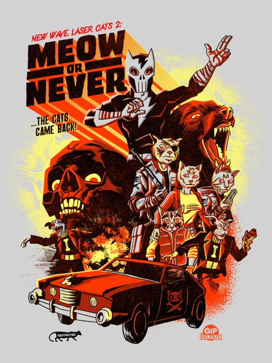 New Wave Laser Cats 2: Meow or Never Art Print