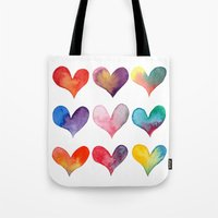 color of hearts Tote Bag