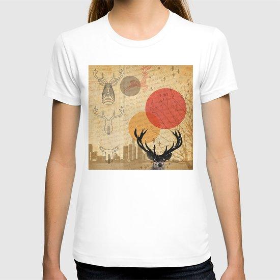 deer in the city T-shirt