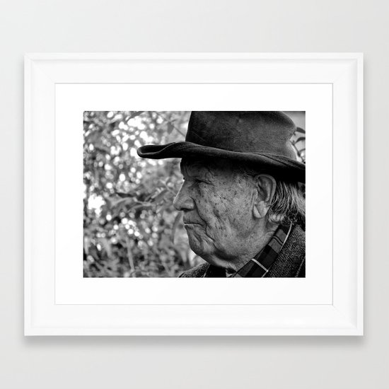 Cowboys Have the Best Stories Framed Art Print