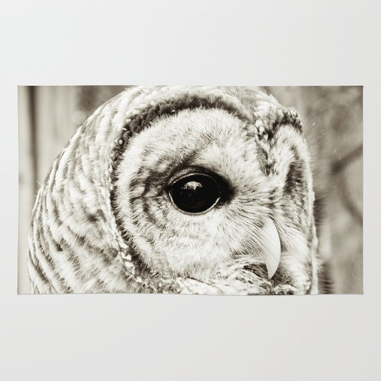 Wise Old Owl Area & Throw Rug