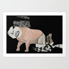 collage woman Art Print