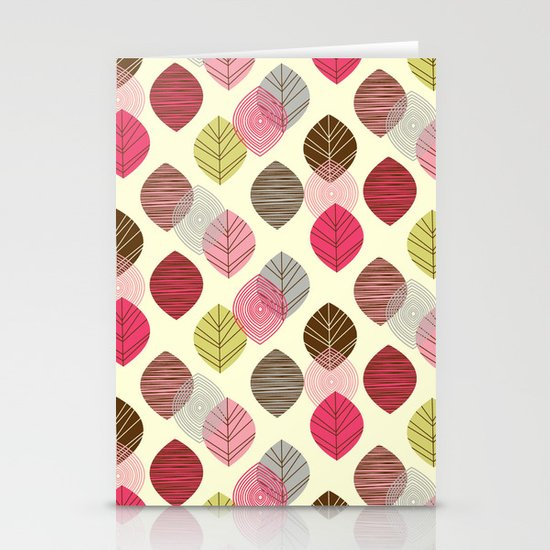 Linear leaves Stationery Card