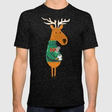 Hot Coffee Mens Fitted Tee Tri-Black SMALL