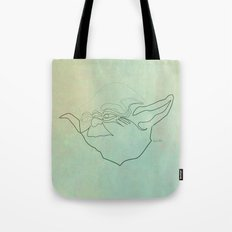 One Line Yoda Tote Bag