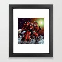 The Moondevil Means Business in 3D Framed Art Print