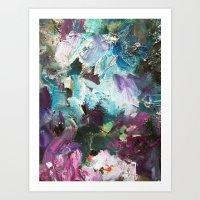 The Garden -Abstract palette art Art Print