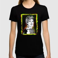 Poly Styrene Womens Fitted Tee Black SMALL