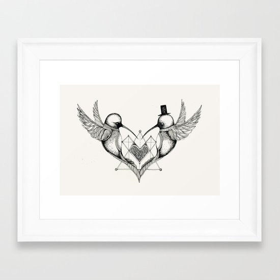 'Humming Birds' Framed Art Print