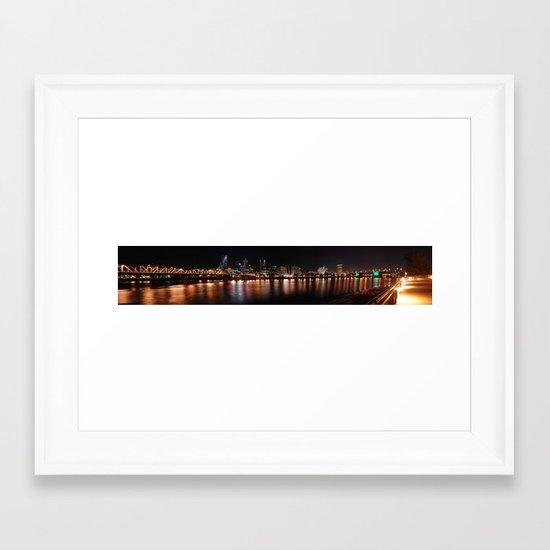 reflections of portland Framed Art Print