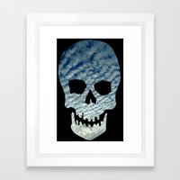 Sky Skull Framed Art Print