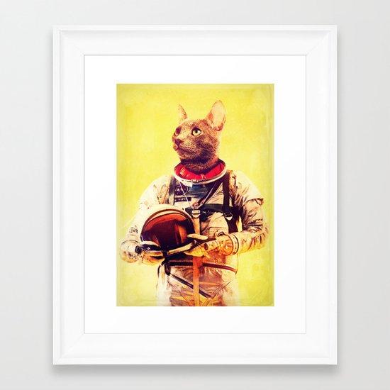 Captain Cat Framed Art Print