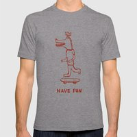 Have Fun Mens Fitted Tee Athletic Grey SMALL