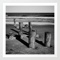 Belmar Beach. Art Print