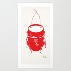 Red cricket Art Print