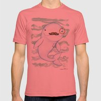 Sir Whale Mens Fitted Tee Pomegranate SMALL