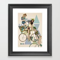Bike Girls Framed Art Print