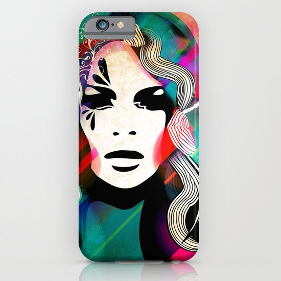 colorful hair iPhone & iPod Case