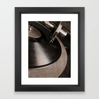old tracks  Framed Art Print