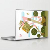 moonrise kingdom Laptop & iPad Skins featuring Moonrise Kingdom by Gabriela Zurda