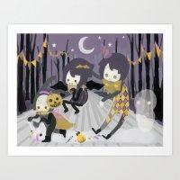 Halloween Walk Art Print